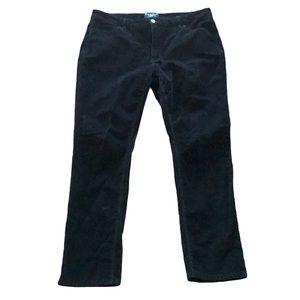 Parasuco black straight leg corduroy pants 16